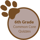 6th Grade Common Core quizzes